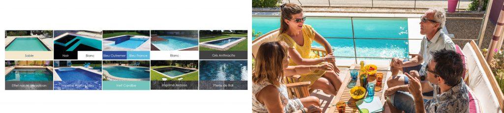 Personnalisez votre piscine et sublimez les reflets de l'eau en choisissant le revêtement de votre piscine Aquilus