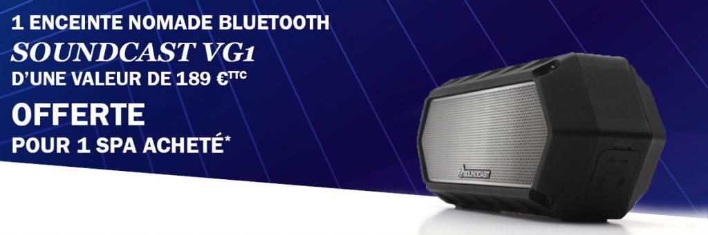 Jusqu'au 7 août 2019, Aquilus Spas vous offre une enceinte de la marque Soundcast.