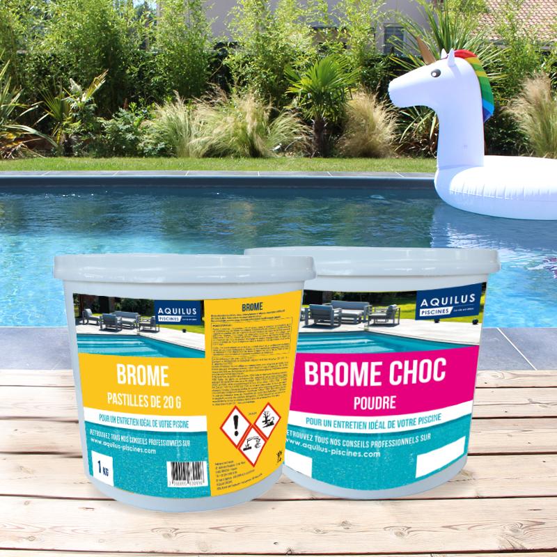 Traitez l'eau de votre piscine Aquilus avec du Brome