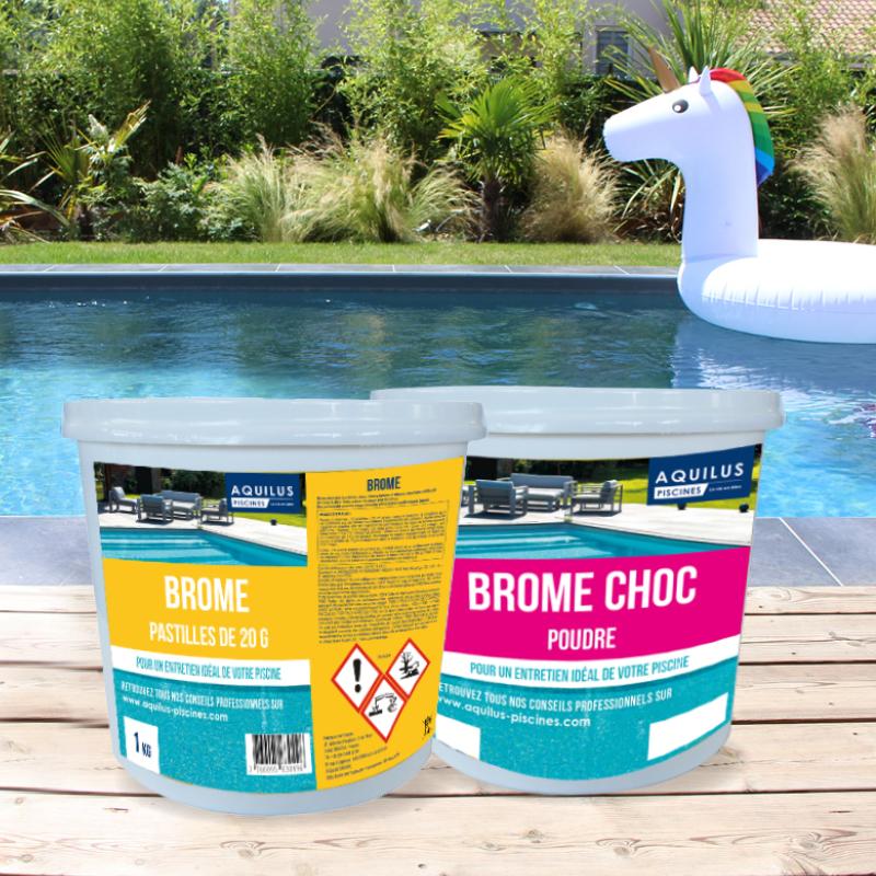 Utilisez du brome pour traiter l'eau de votre spa Aquilus